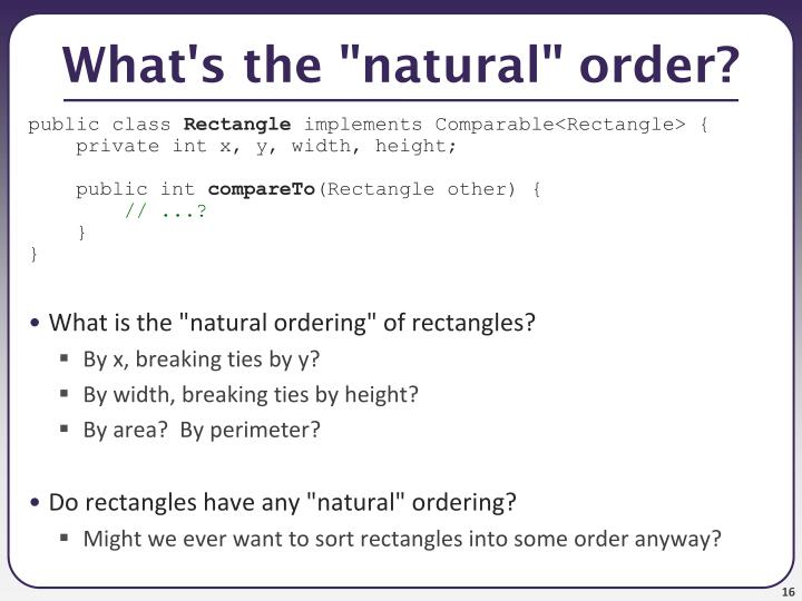 "What's the ""natural"" order?"