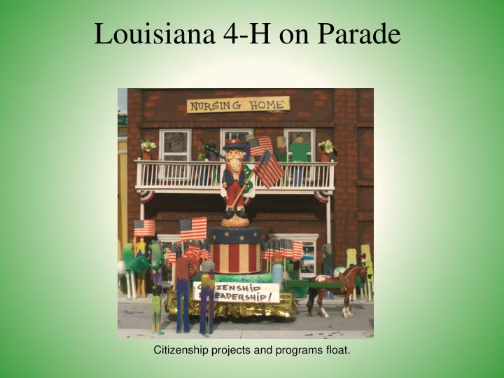 Louisiana 4-H on Parade