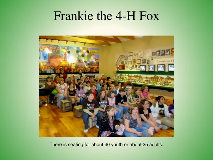 Frankie the 4-H Fox