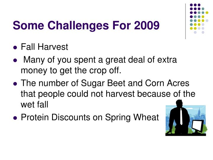 Some Challenges For 2009