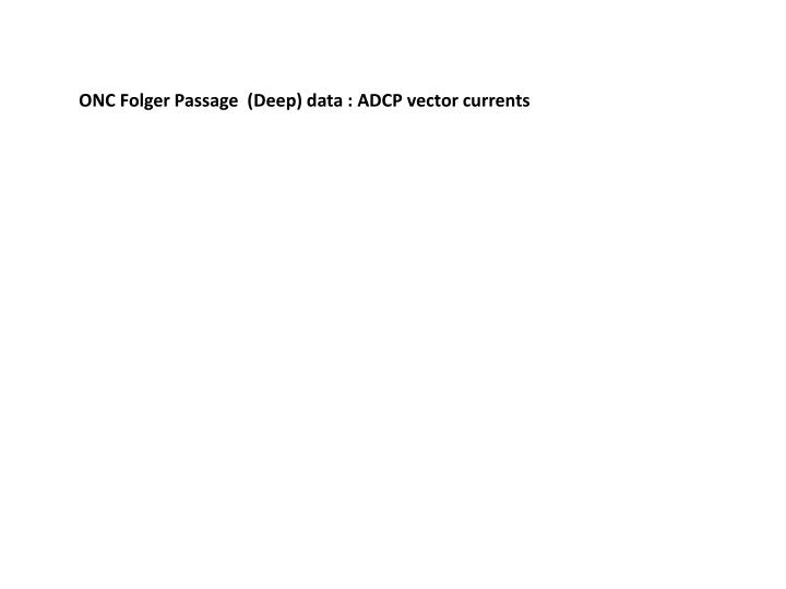 ONC Folger Passage  (Deep) data : ADCP vector currents