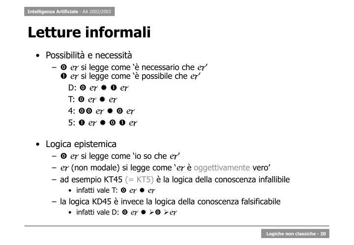 Letture informali