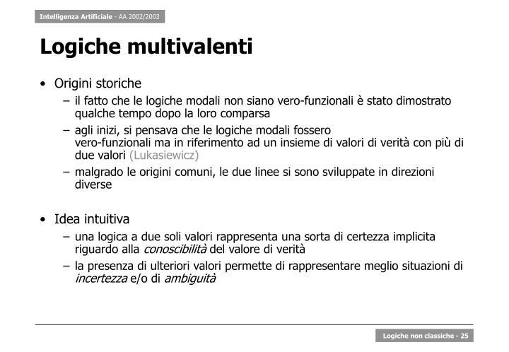 Logiche multivalenti