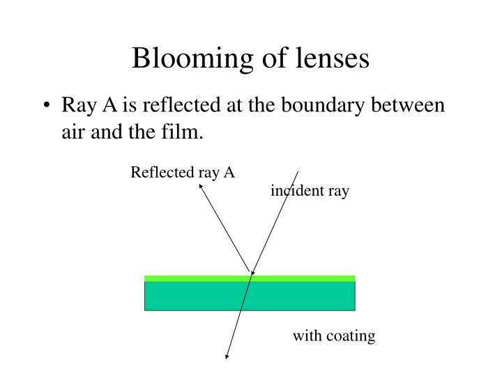 Blooming of lenses