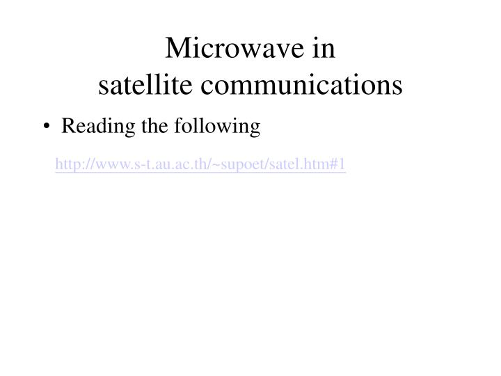 Microwave in