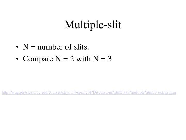 Multiple-slit