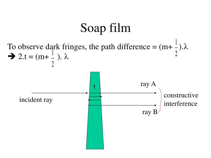 Soap film