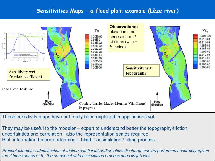 Sensitivities Maps : a flood plain example (Lèze river)