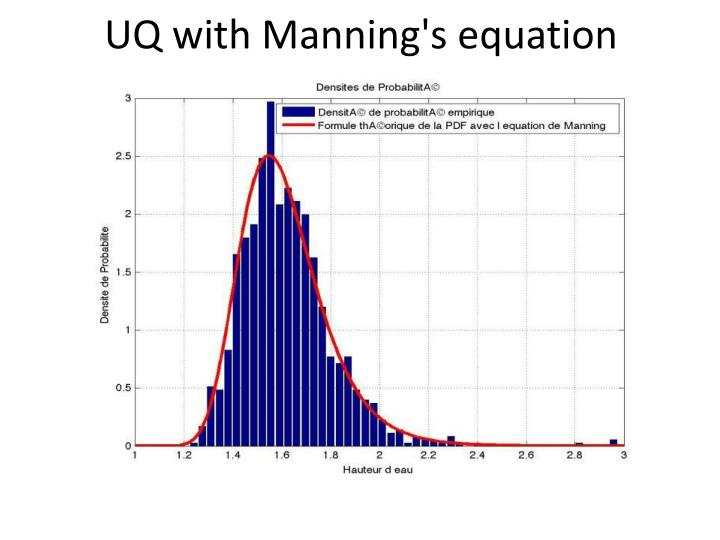 UQ with Manning's equation