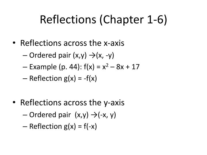 Reflections (Chapter 1-6)