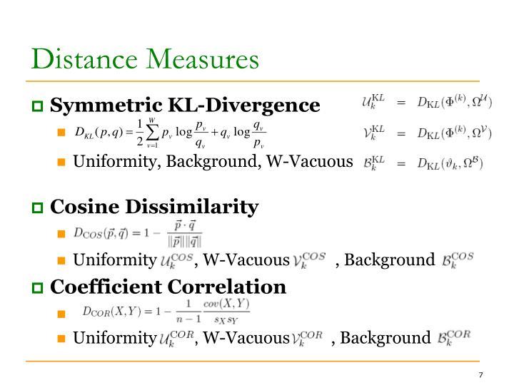 Distance Measures