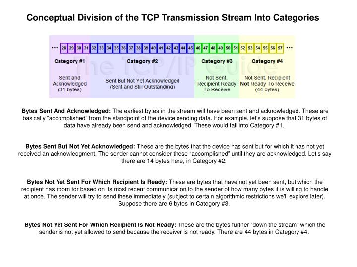 Conceptual Division of the TCP Transmission Stream Into Categories