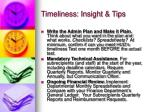 timeliness insight tips1