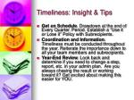 timeliness insight tips2