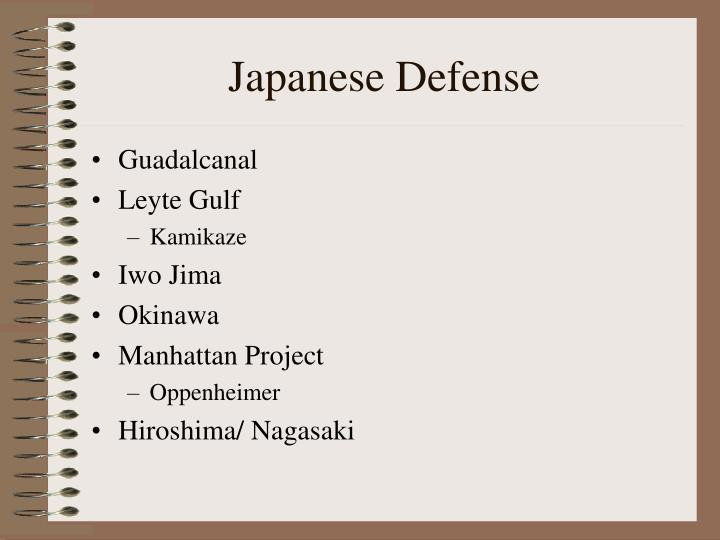 Japanese Defense