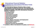 international financial statistics published by international monetary fund