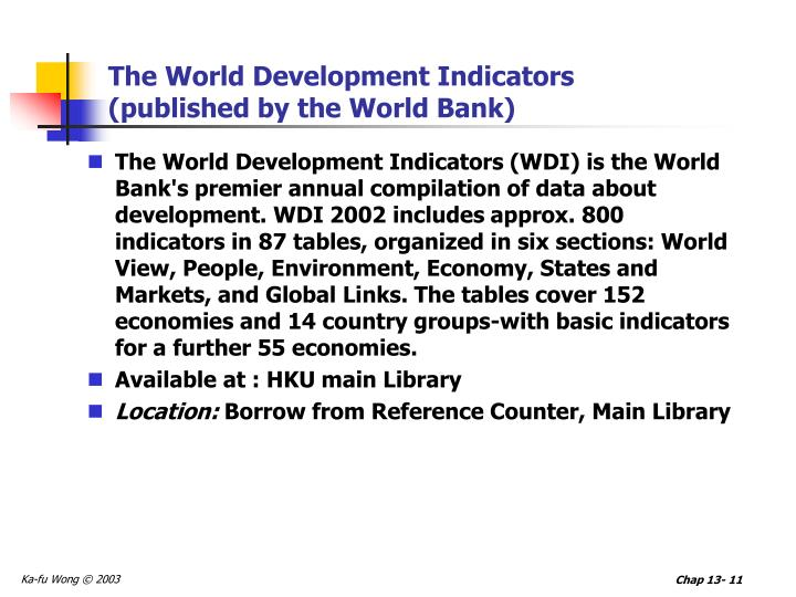The World Development Indicators