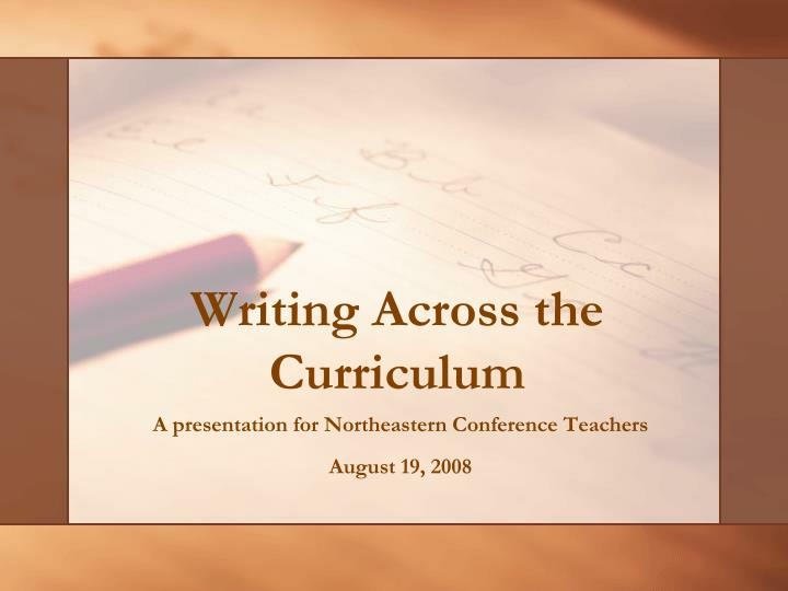 writing across the curriculum essay