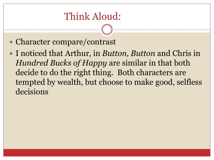 Think Aloud: