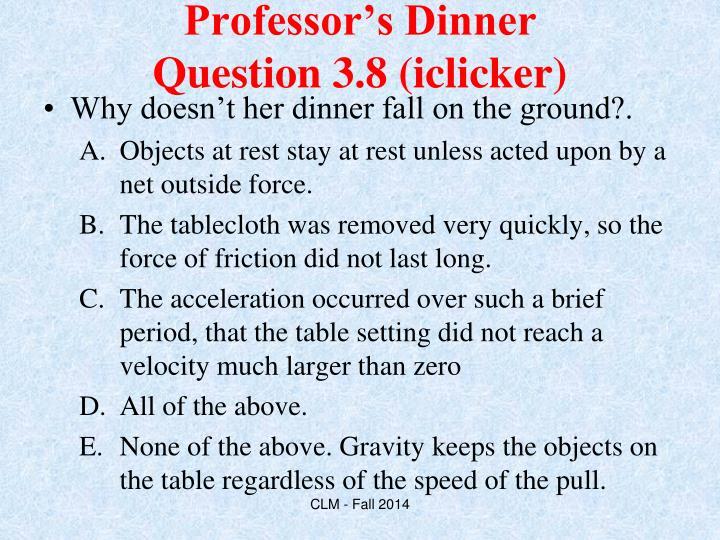 Professor's Dinner