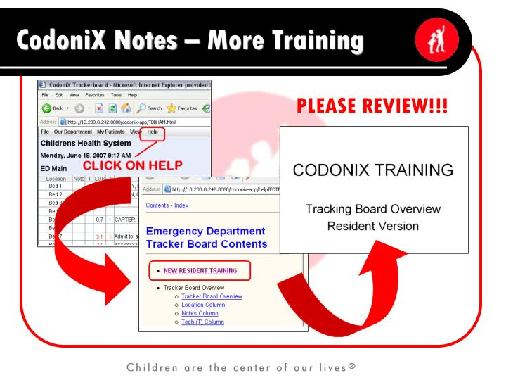 CodoniX Notes – More Training