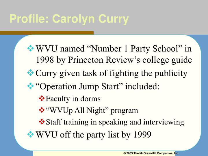 Profile: Carolyn Curry