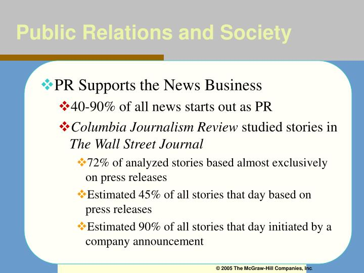 Public Relations and Society