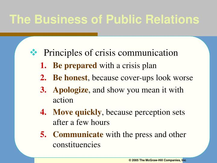 The Business of Public Relations