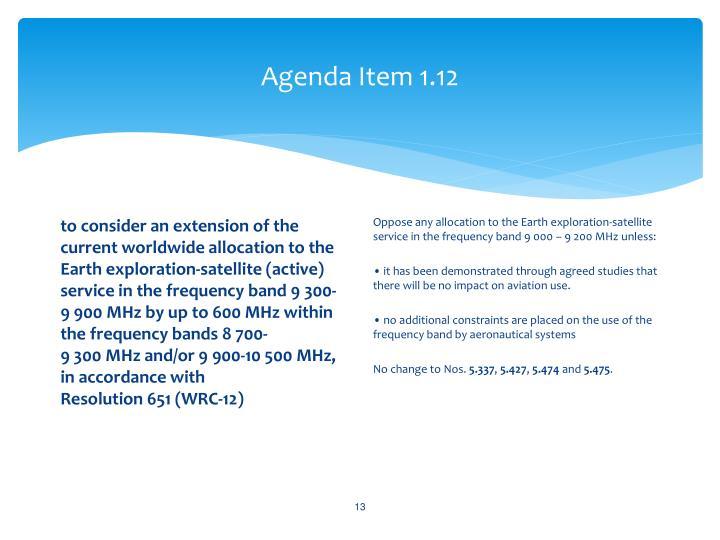 Agenda Item 1.12