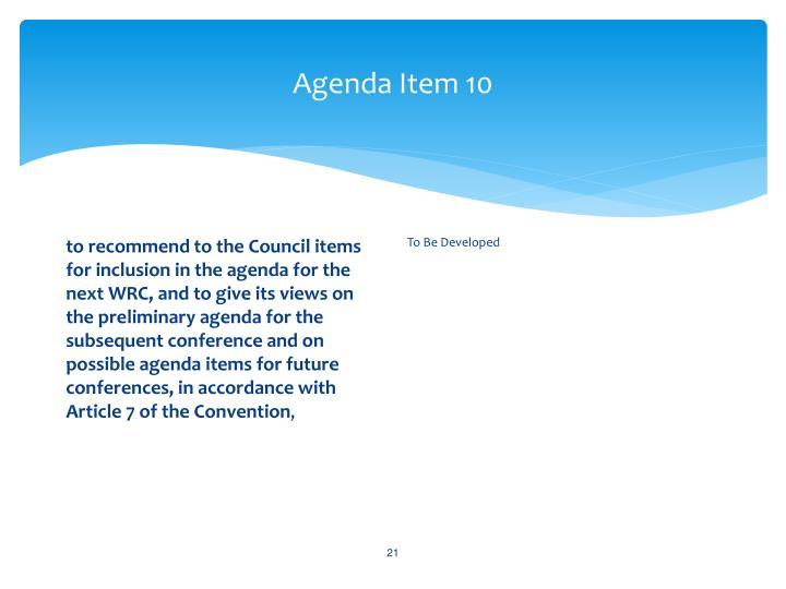 Agenda Item 10