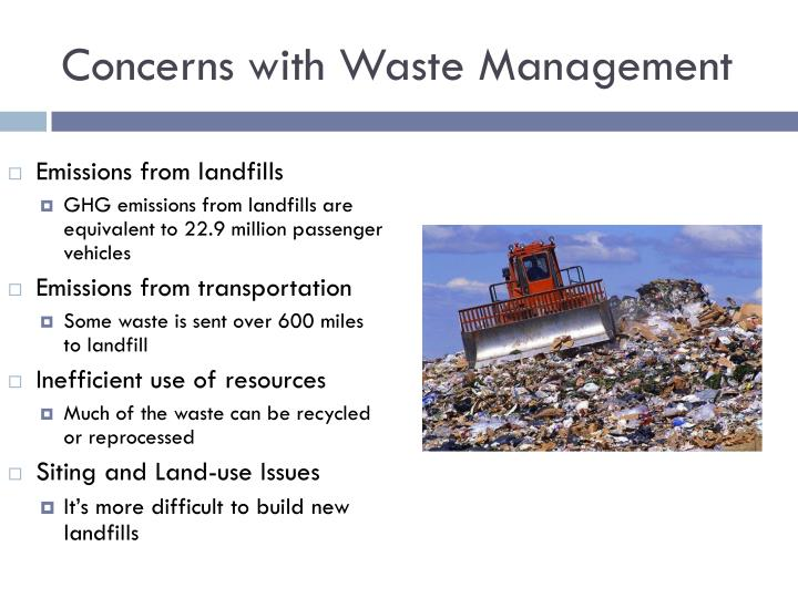 Concerns with Waste Management