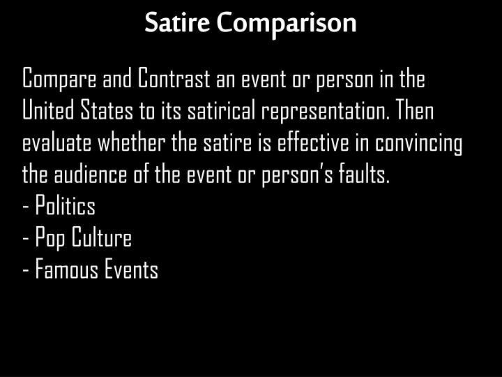 Satire Comparison