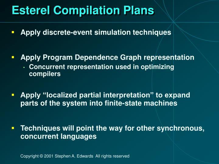 Esterel Compilation Plans