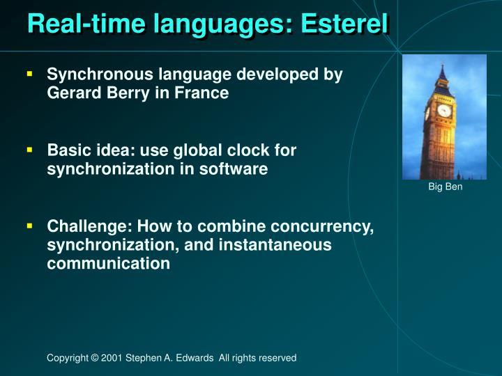 Real-time languages: Esterel