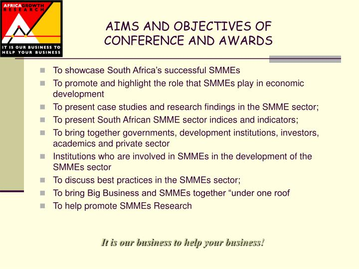 AIMS AND OBJECTIVES OF
