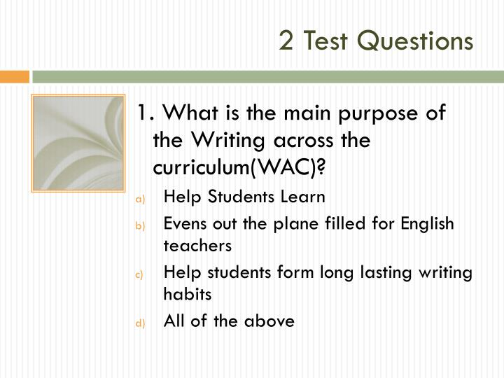2 Test Questions