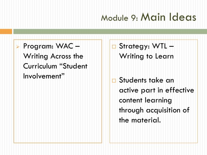 Module 9 main ideas