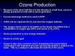 ozone production