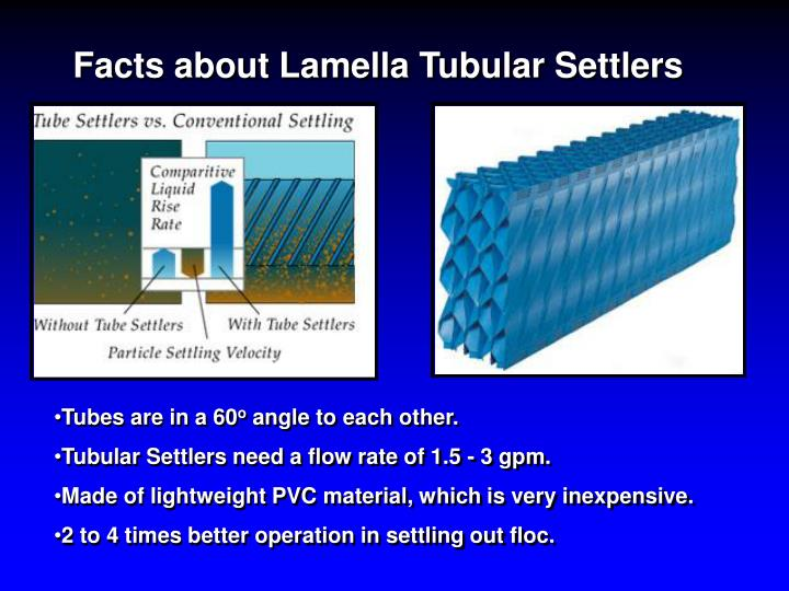 Facts about Lamella Tubular Settlers