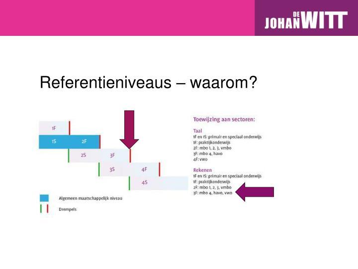 Referentieniveaus – waarom?