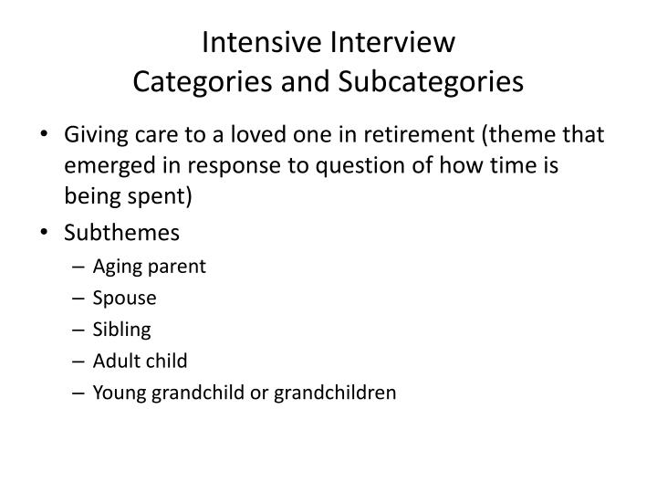 Intensive Interview