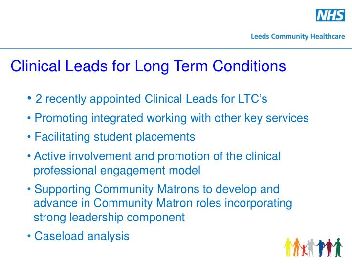 Clinical Leads for Long Term Conditions