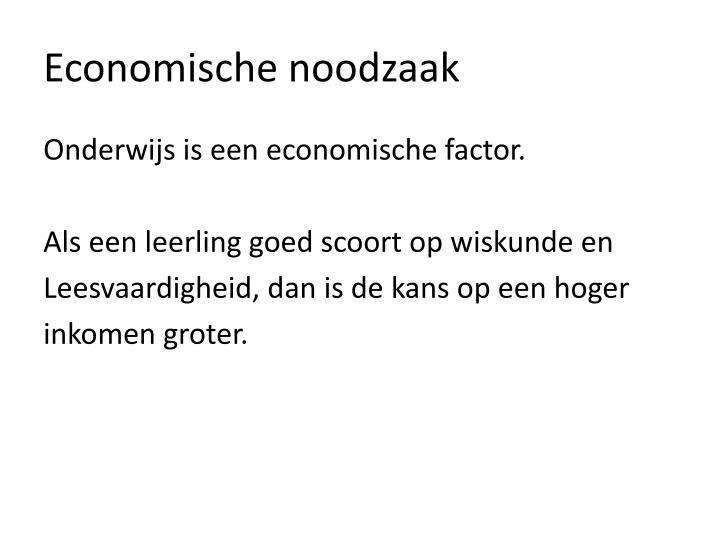 Economische noodzaak