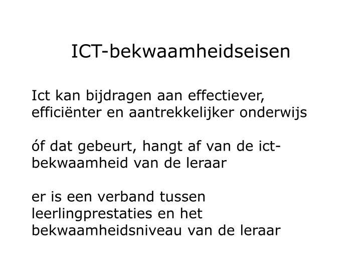 ICT-bekwaamheidseisen
