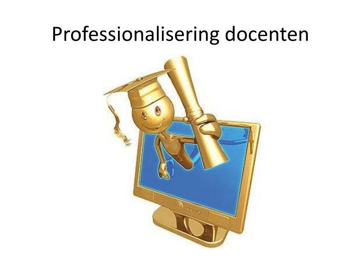 Professionalisering docenten