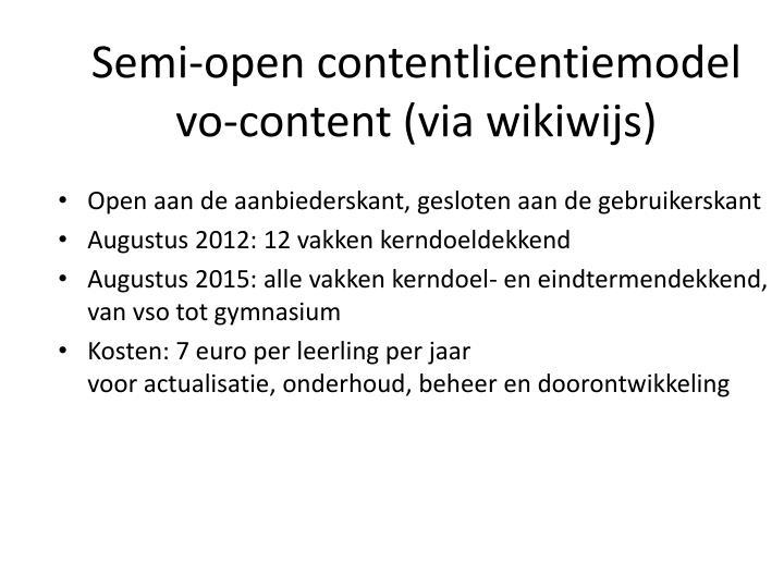 Semi-open contentlicentiemodel