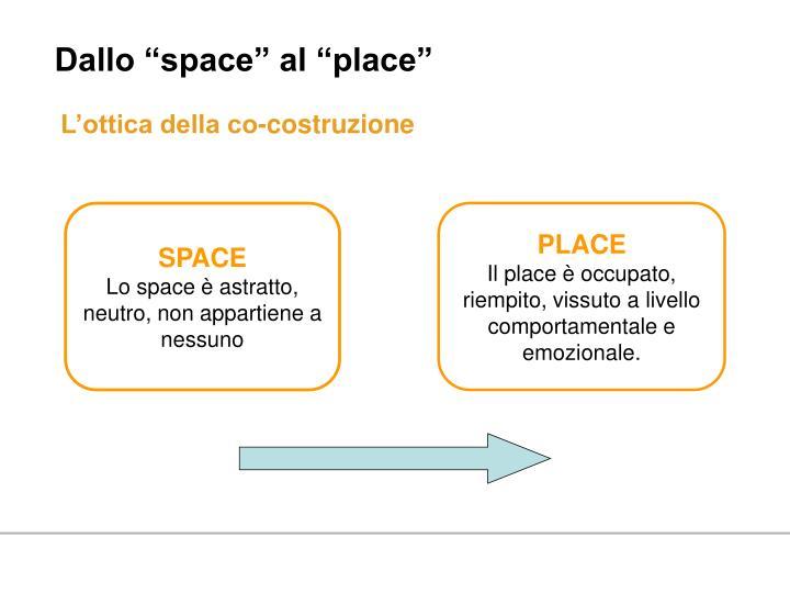 """Dallo """"space"""" al """"place"""""""