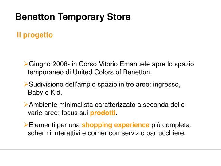 Benetton Temporary Store