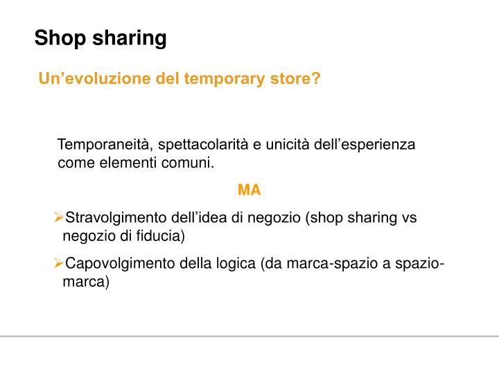 Shop sharing