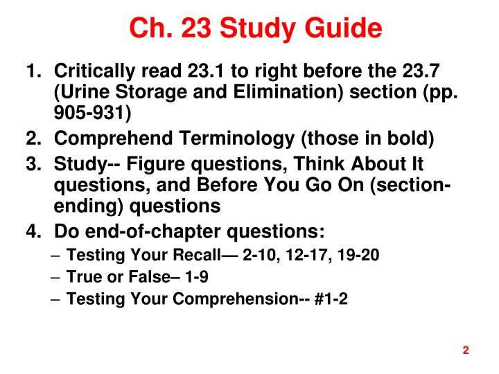 Ch. 23 Study Guide